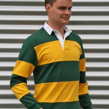 Groen/geel rugbyshirt