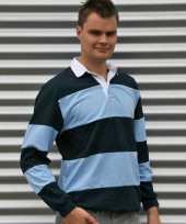 Rugby shirts licht blauw navy