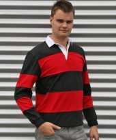 Rugby shirts zwart met rood